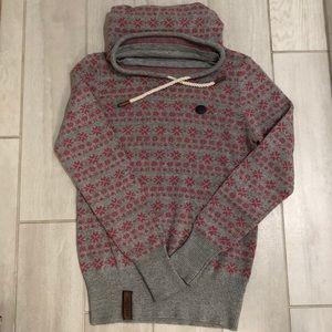 naketano pullover sweater snowflake pink gray
